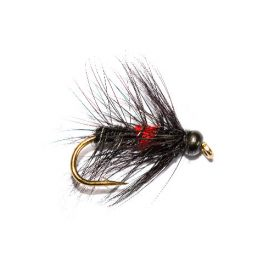 Black Hot Head Bibio Fishing Fly Fish Fishing Flies