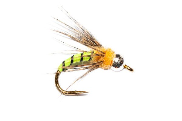 Hot Head Grannom Pupa, goldhead fishing flies