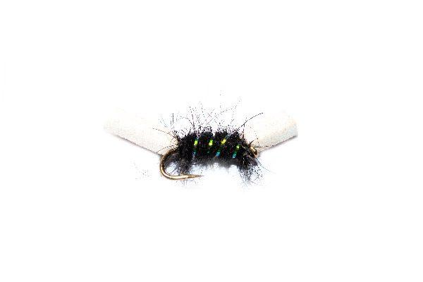 Fish Fishing Flies, Black Sugar Lump Buzzer