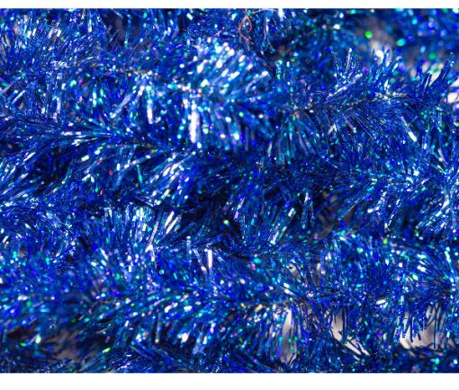 Waterburn Fly Tying Materials, Blue Holographic Blob Fritz