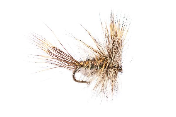 Bronze Sparkle Grey Wulff Fishing Fly