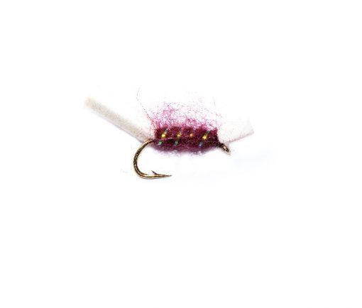 Fish Fishing Fly Claret Sugar Lump Buzzer