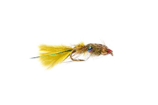 Fish Fishing Flies, Rainbow Goldhead Blue Flash Damsel