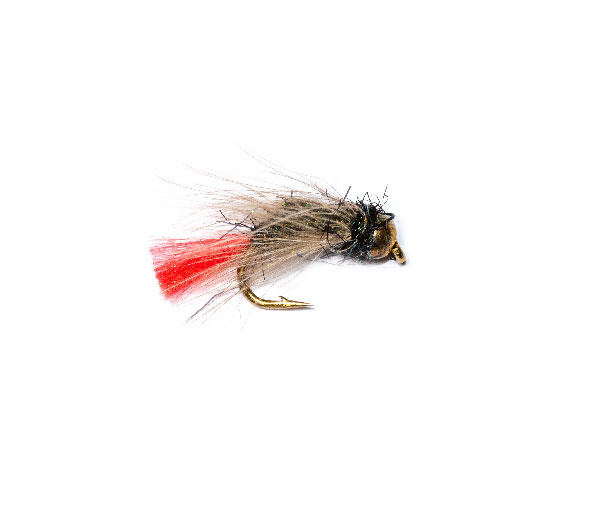 4 Orange Crystal Fabs Blobs Mini Lures  Trout Flies Size 12