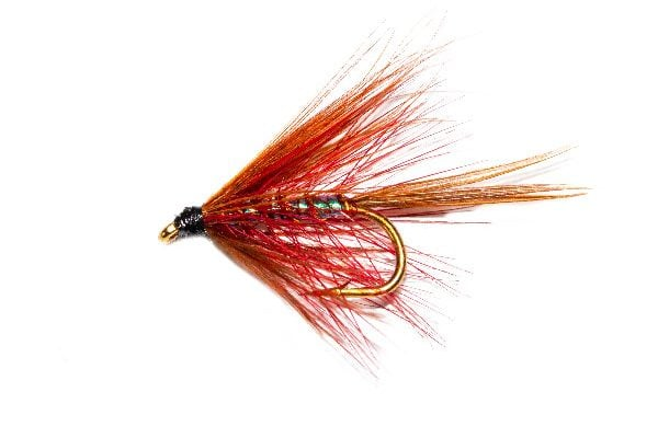 Claret Pearly Dabbler Wet Fishing Fly