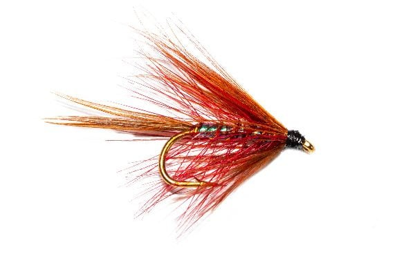 Trout Flies Claret Pearly Dabbler