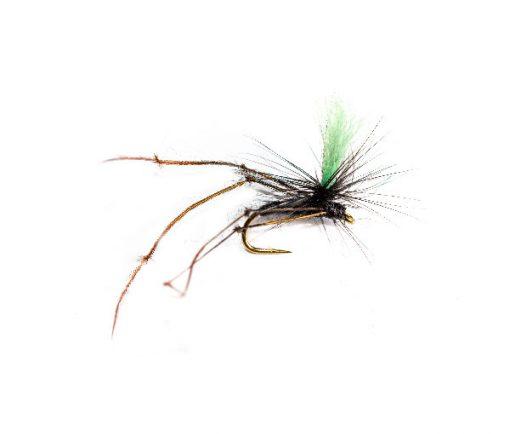 Black Daddy Long Legs Green Hot Spot Parachute