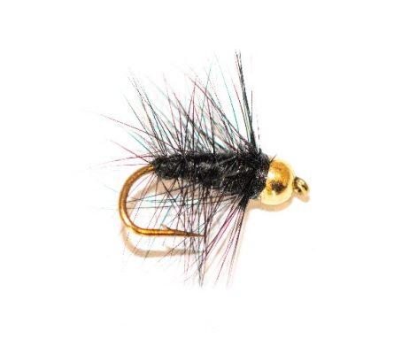 Black Palmer Wet Fly Goldhead