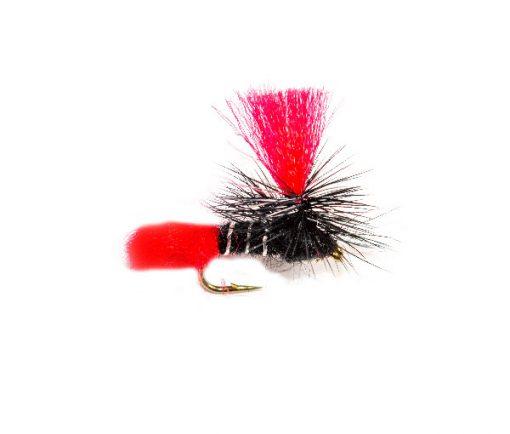 Black Zulu Red Hot Spot Parachute