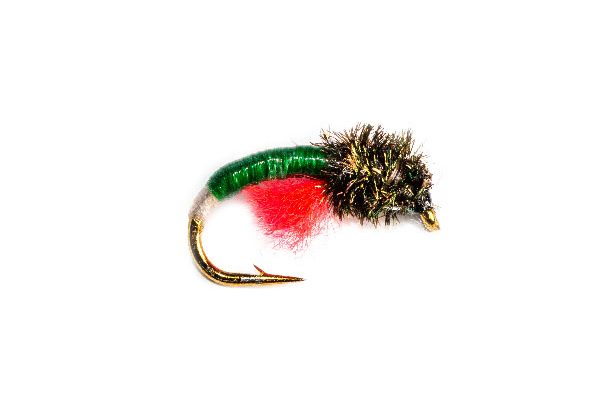 Trout Fkly Peacock Head White Butt Green Epoxy Buzzer