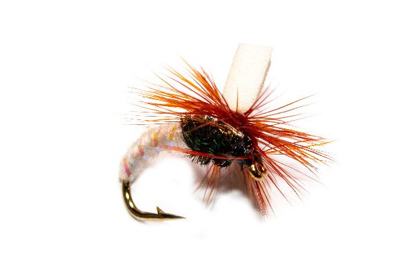 White Suspender Parachute Trout Fly