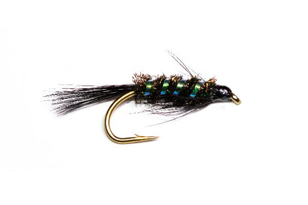 Black Holographic Devil Nymph Fish Fishing Fly