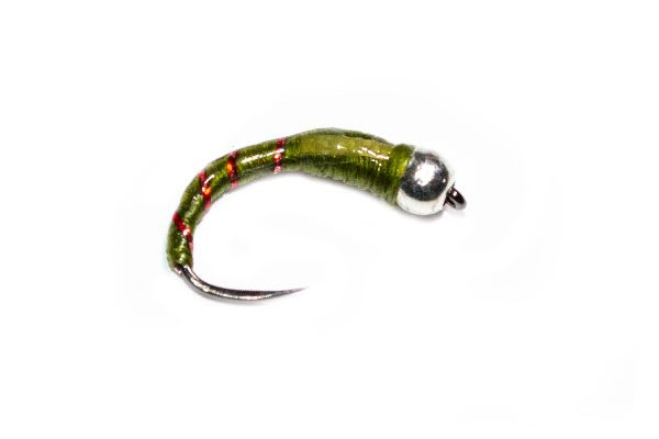 Silver Head Olive Glass Buzzer Fishing Fly