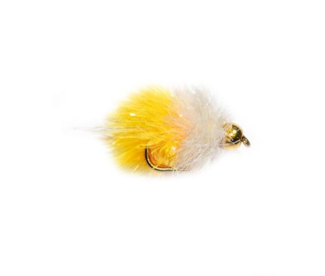 White and Yellow Goldhead Shimmer Blob