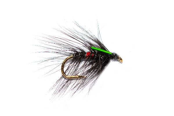 Wet Fishing Fly Bibio Green Biot