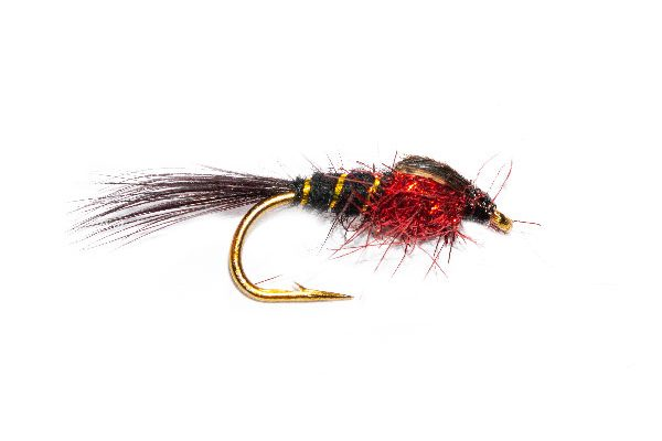 Black Hares Ear Red Fire UV Angelina Sparkle Trout Flies