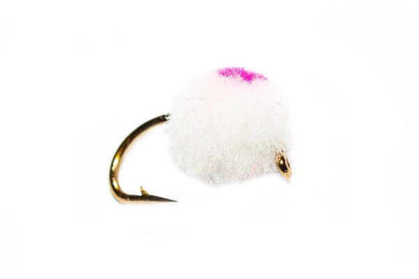 Bright White Egg Pink Eye Hotspot Flies
