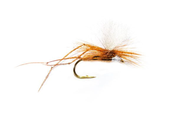Fishing flies Daddy Long Legs Ginger Parachute White Hotspot