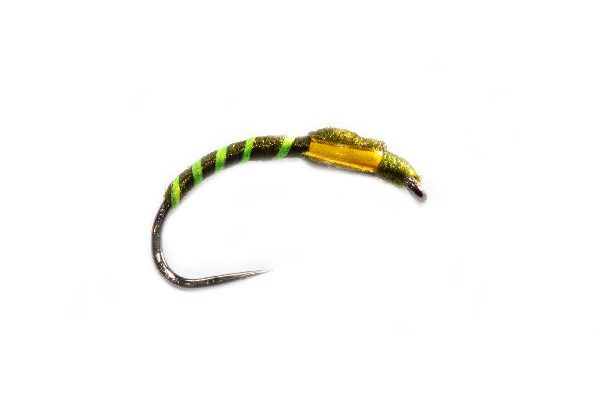 Fishing Fly Green Ribbed Olive Buzzer