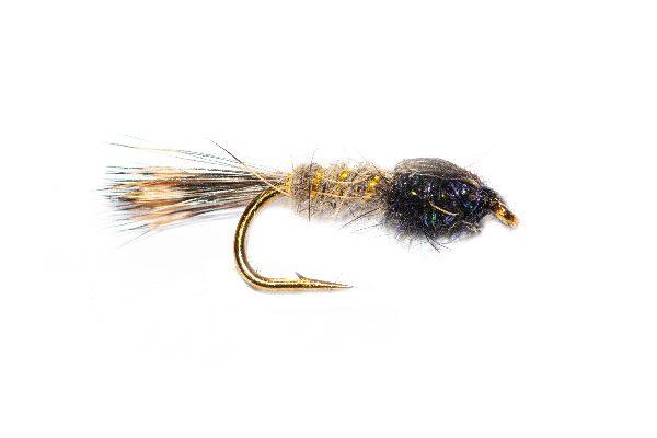 Hares Ear Killer Black UV Angelina Sparkle Trout Fishing Fly