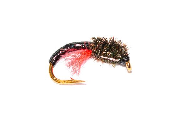 Fishing Fly Peacock Head Black Crisp Packet Epoxy Buzzer