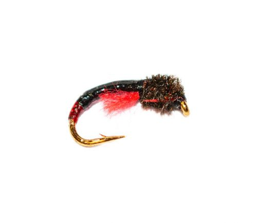 Peacock Head Black with Red Butt Crisp Packet Epoxy Buzzer