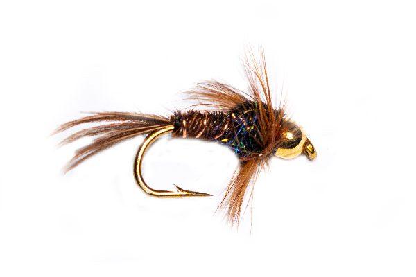 Pheasant Tail Goldhead Black Angelina Sparkle Thorax