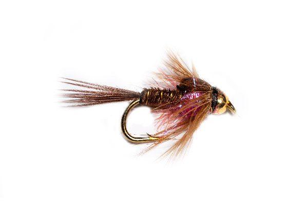 Pheasant Tail Goldhead Cherry Angelina Sparkle Thorax