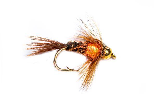 Pheasant Tail Goldhead Peach Angelina Sparkle Thorax