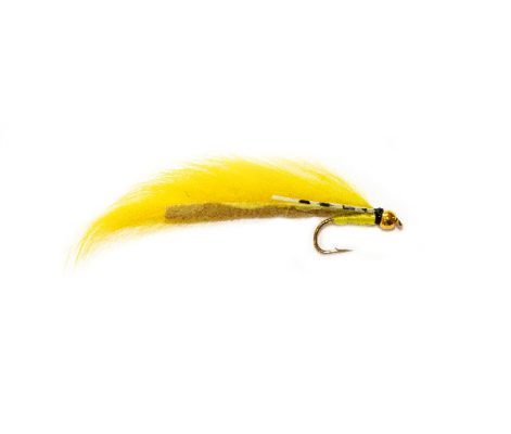 Flexi Yellow Zonker Fishing Fly