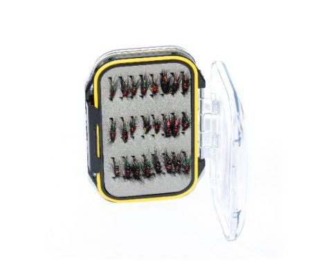 Bibio Specials Fly Box acrylic Fly Box ( holds 96 standard flies) Box Contains 24 Special Bibio Patterns