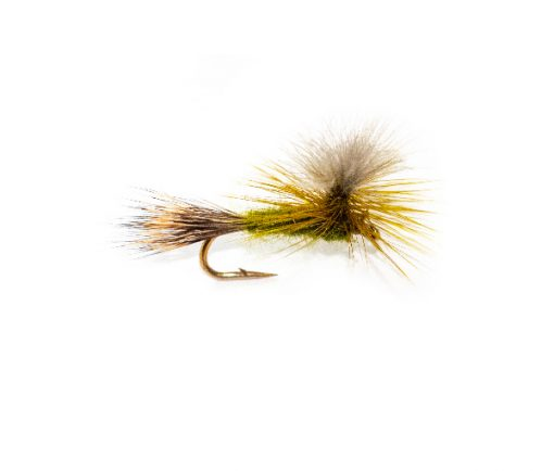CDC Olive Wulf Parachute Trout Flies