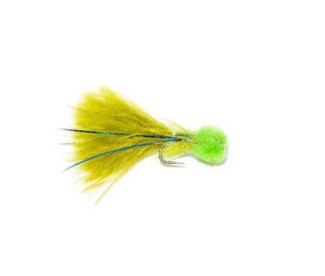 Hatching Green Hot Head Blue Flash Damsel Nymph Fishing Flies