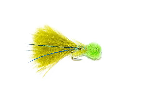 Hatching Green Hot Head Blue Flash Damsel Nymph Fishing Flies