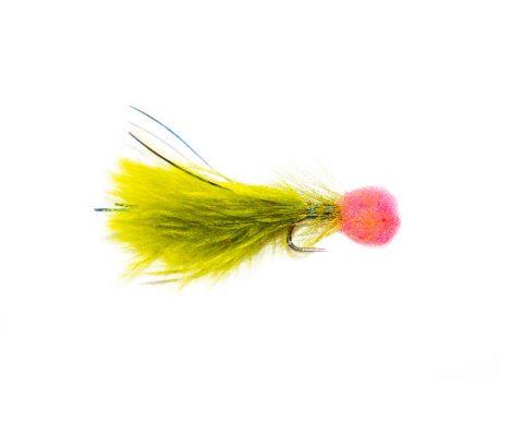 Hatching Pink Hot Head Blue Flash Damsel Fishing Flies