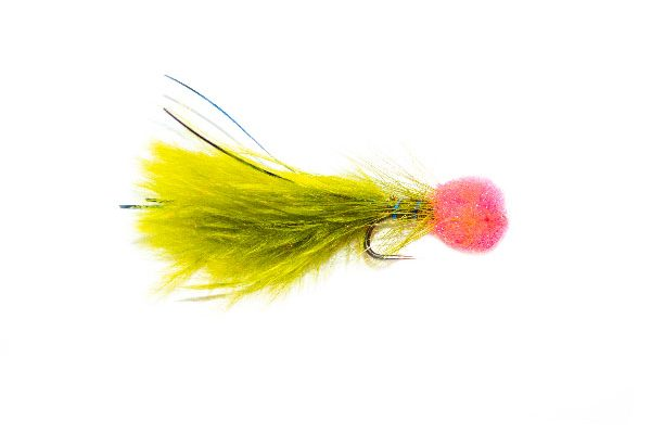 Hatching Pink Hot Head Blue Flash Damsel Fishing Flies