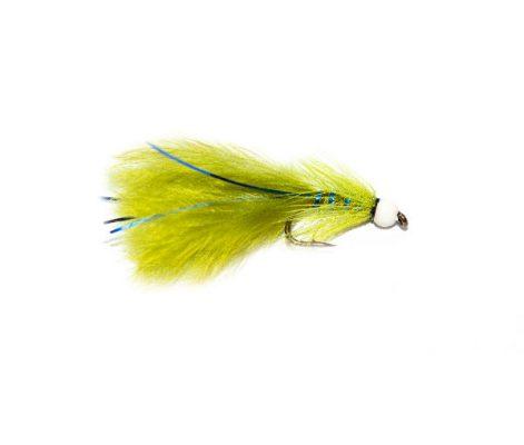 White Hot Head Blue Flash Damsel Trout Fly
