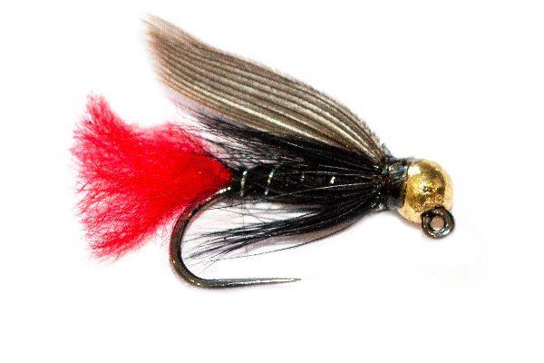 Gold Tungsten Head Black Winged Spider Jig Nymph