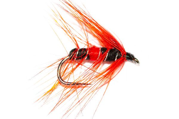 Trout Fishing Flies - Blood Water Red Bibio