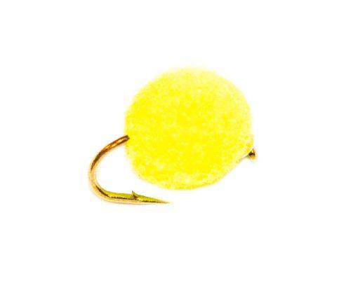 FishingFlies - Day Glow Gold Nugget Tennis Ball Egg