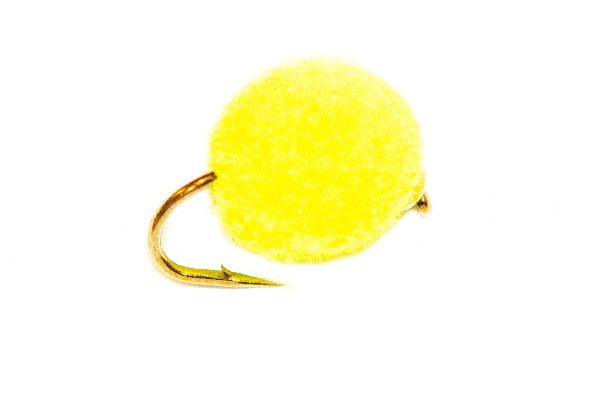 FishingFlies - Day Glow Gold Nugget Tennis Ball Egg