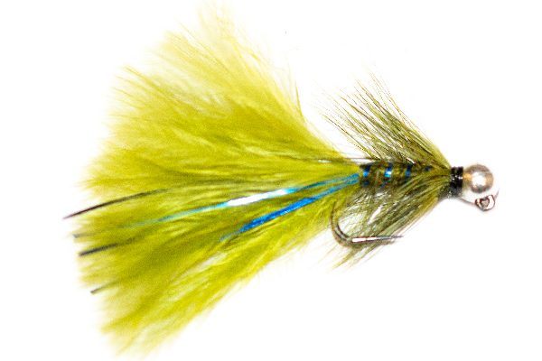 Silver Head Tungsten Fishing Flies, Blue Flash Damsel Nymph