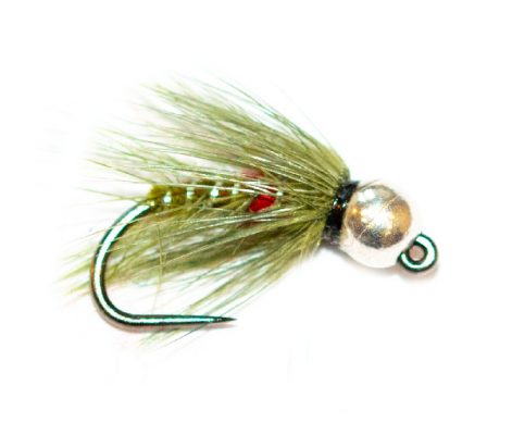 Fishing Fly - Silver Tungsten Nymph Olive Bibio Spider