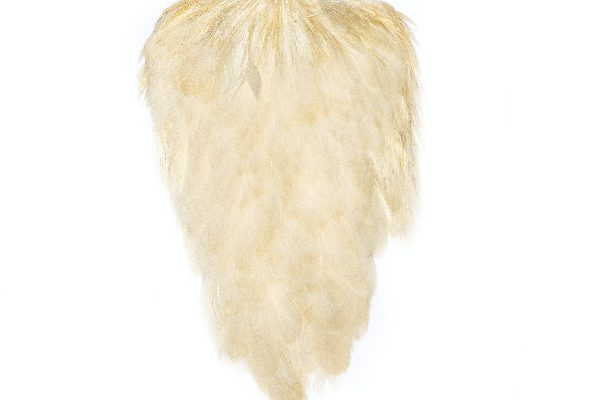 Large White Blonde Hen Cape Fishing Flies Tying
