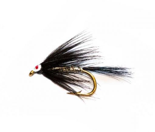 Fishing Flies Eyed Black and Silver Spider