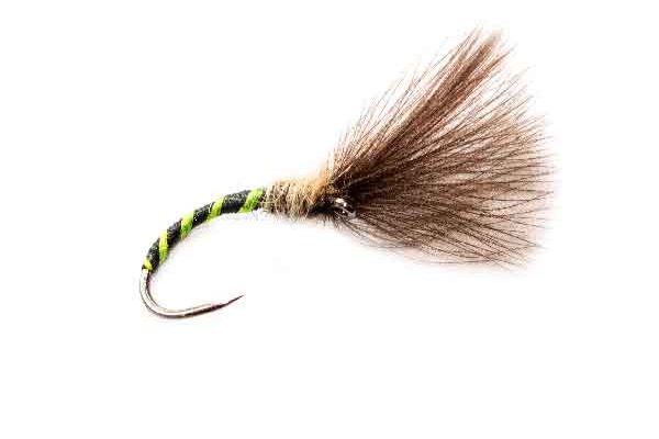 Black Visi Green Rib Owl CDC Fishing Fly