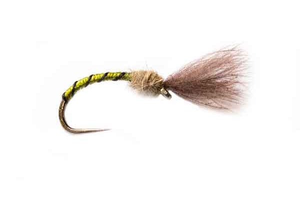 Olive Owl CDC Fishing Fly