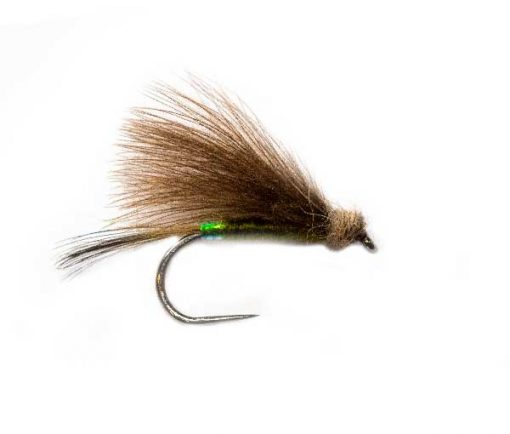 Roz Pearl Butt Olive CDC Fishing Flies
