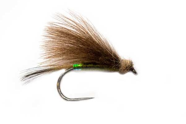 Roz Pearl Butt Olive CDC Fishing Flies