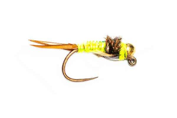 Fishing Fly Fluo Green Copper John